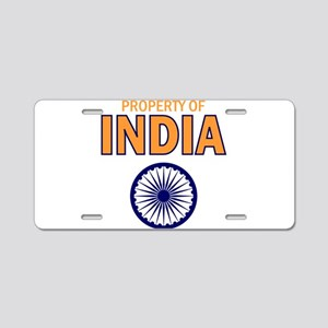Property of India Aluminum License Plate
