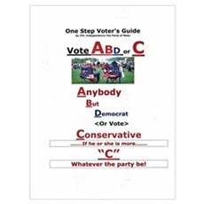 One Step Voters Guide Canvas Art