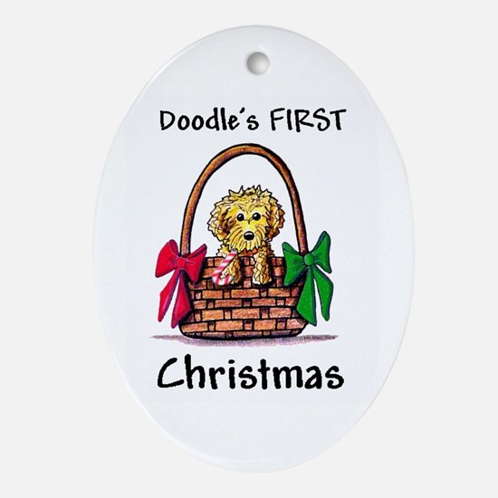 DOODLE'S FIRST Christmas Oval Ornament