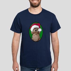 Santa Chocolate Doodle Dark T-Shirt