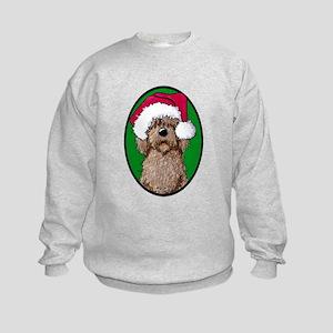 Santa Chocolate Doodle Kids Sweatshirt