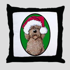 Santa Chocolate Doodle Throw Pillow