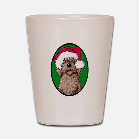 Santa Chocolate Doodle Shot Glass