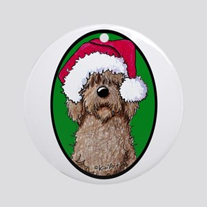 Santa Chocolate Doodle Ornament (Round)