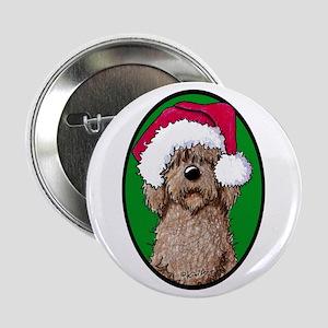 "Santa Chocolate Doodle 2.25"" Button"