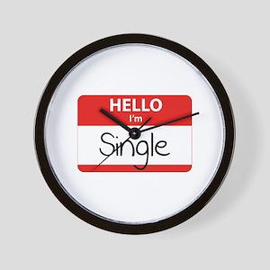 Hello I'm Single Wall Clock