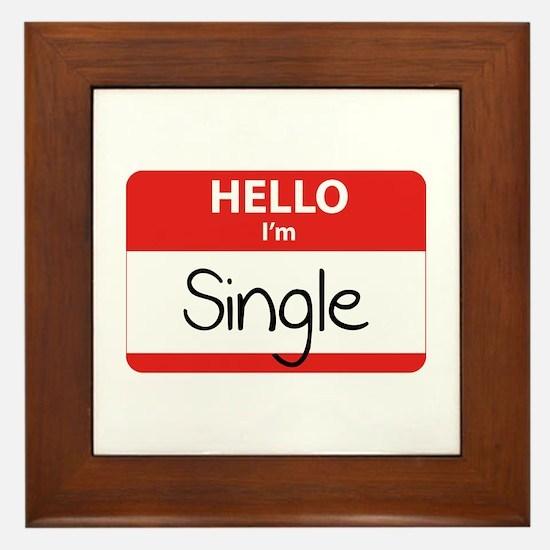 Hello I'm Single Framed Tile
