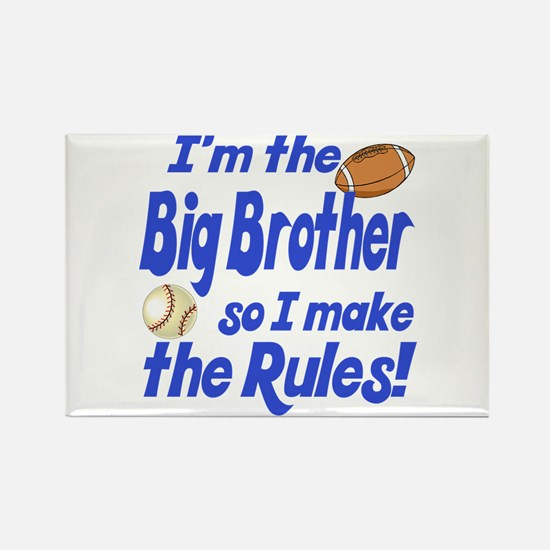 Big Brother Rules Rectangle Magnet