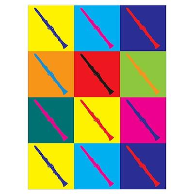 Clarinet Pop Art Poster
