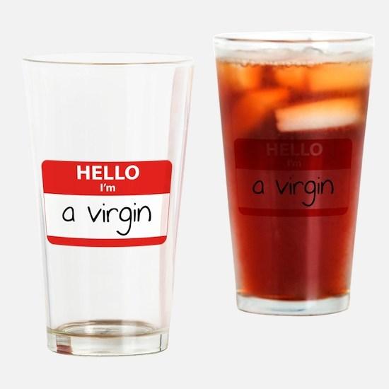 Hello I'm a virgin Drinking Glass
