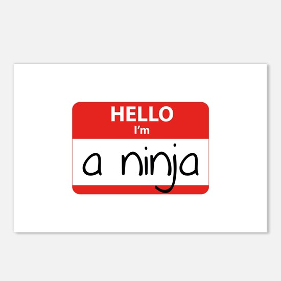 Hello I'm a Ninja Postcards (Package of 8)