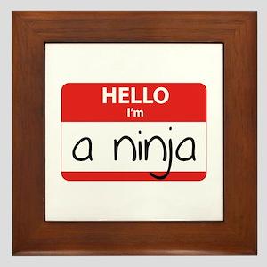 Hello I'm a Ninja Framed Tile