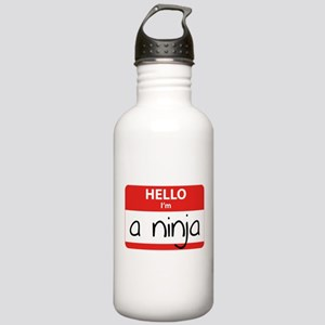 Hello I'm a Ninja Stainless Water Bottle 1.0L