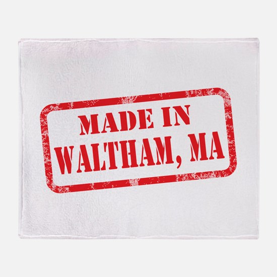 MADE IN WALTHAM, MA Throw Blanket