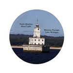 North Manitou Shoal Light Button