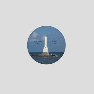 Huron Harbor Light Mini Button