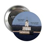 "North Manitou Shoal Light 2.25"" Button"