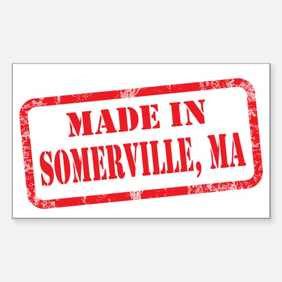 MADE IN SOMERVILLE, MA Sticker (Rectangle)