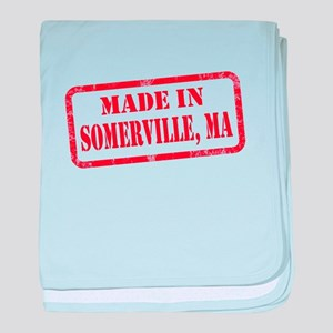 MADE IN SOMERVILLE, MA baby blanket