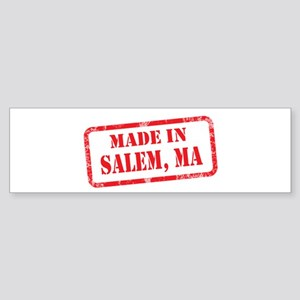 MADE IN SALEM. MA Sticker (Bumper)