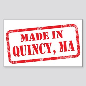 MADE IN QUINCY, MA Sticker (Rectangle)