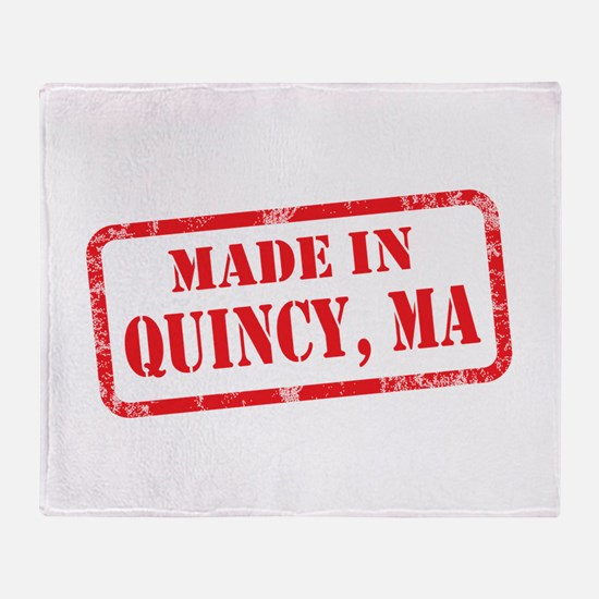 MADE IN QUINCY, MA Throw Blanket