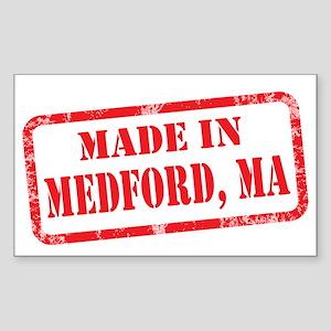 MADE IN MEDFORD, MA Sticker (Rectangle)