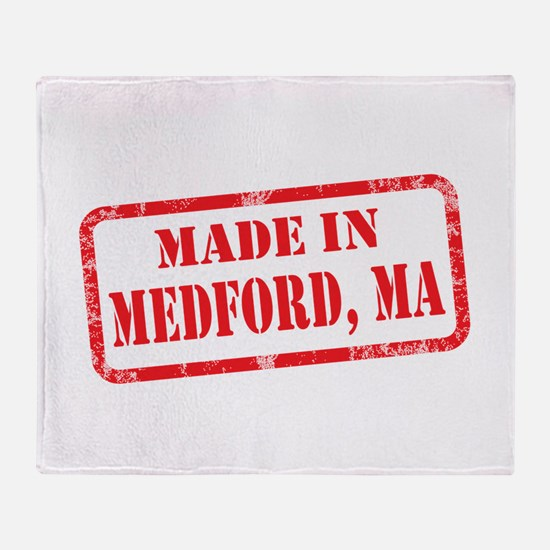 MADE IN MEDFORD, MA Throw Blanket