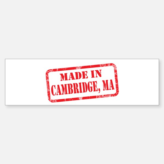 MADE IN CAMBRIDGE, MA Sticker (Bumper)