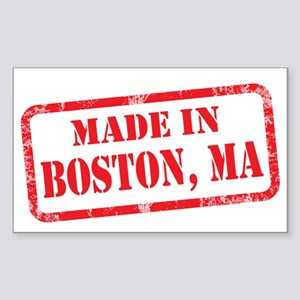 MADE IN BOSTON, MA Sticker (Rectangle)