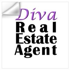 Diva Real estate Agent Wall Decal
