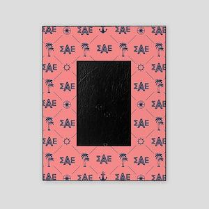 Sigma Alpha Epsilon Coral Pattern Picture Frame