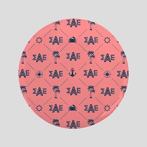 Sigma Alpha Epsilon Coral Pattern Button