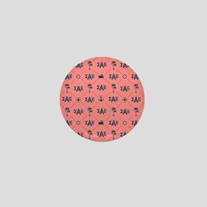 Sigma Alpha Epsilon Coral Pattern Mini Button