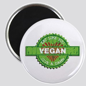 Vegan Eat Like You Give a Damn Magnet