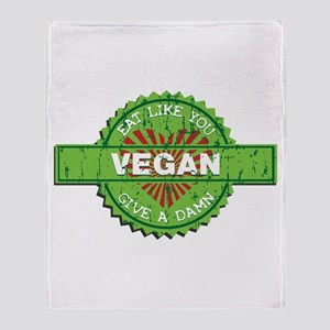 Vegan Eat Like You Give a Damn Throw Blanket