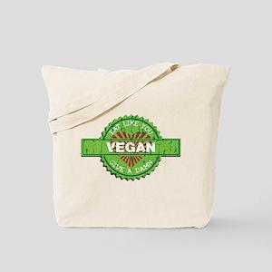 Vegan Eat Like You Give a Damn Tote Bag