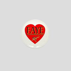 Love Faye Mohammad-Ali Mini Button