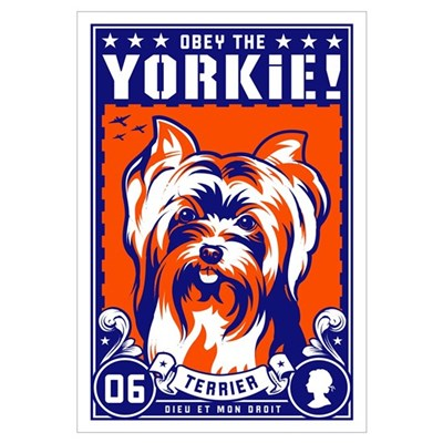 Yorkshire Terrier Large Propaganda Canvas Art