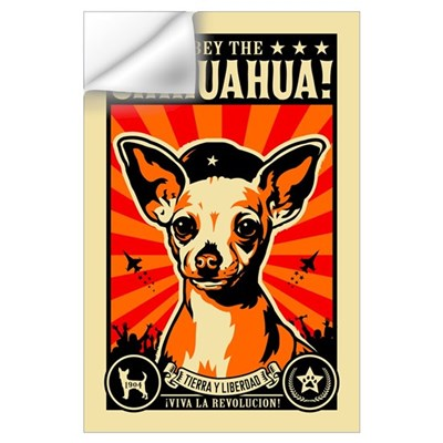 Obey the Chihuahua! Rev Wall Decal