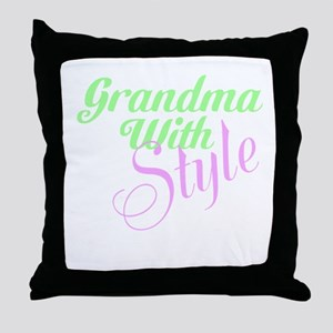 Grandma With Style Throw Pillow