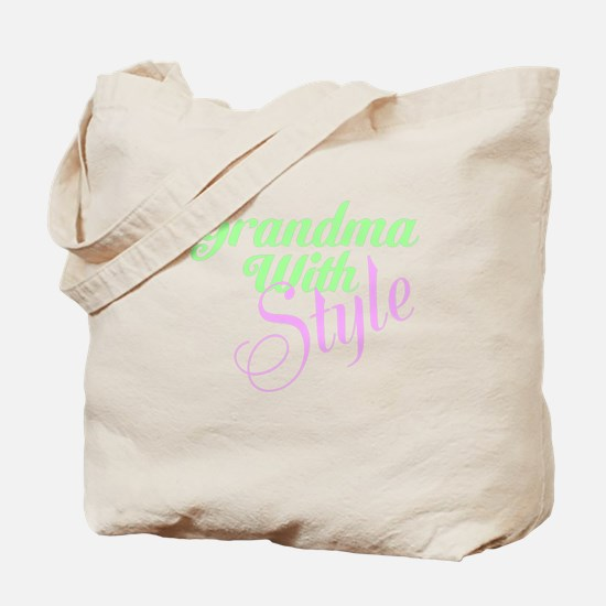 Grandma With Style Tote Bag