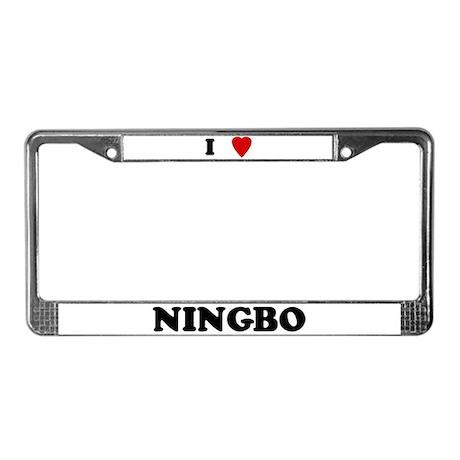 I Love Ningbo License Plate Frame