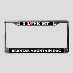 I Love My Bernese Mountain Dog License Plate Frame