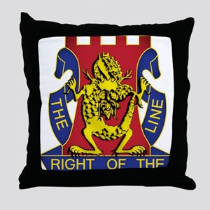 14th Infantry Regiment - Gold Throw Pillow