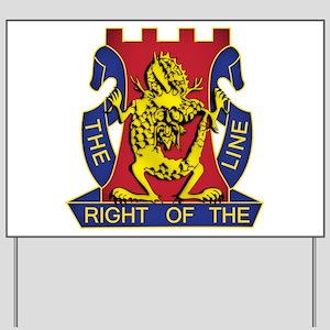 14th Infantry Regiment - Gold Yard Sign