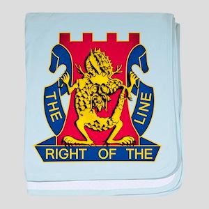 14th Infantry Regiment - Gold baby blanket