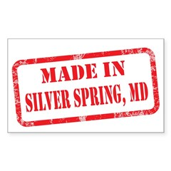 MADE IN SILVER SPRING, MD Sticker (Rectangle)