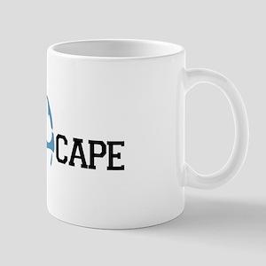 The Cape MA - Map Design Mug