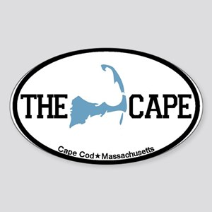 The Cape MA - Map Design Sticker (Oval)